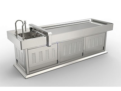 ZHJPT-10不锈钢雾化清洗解剖台