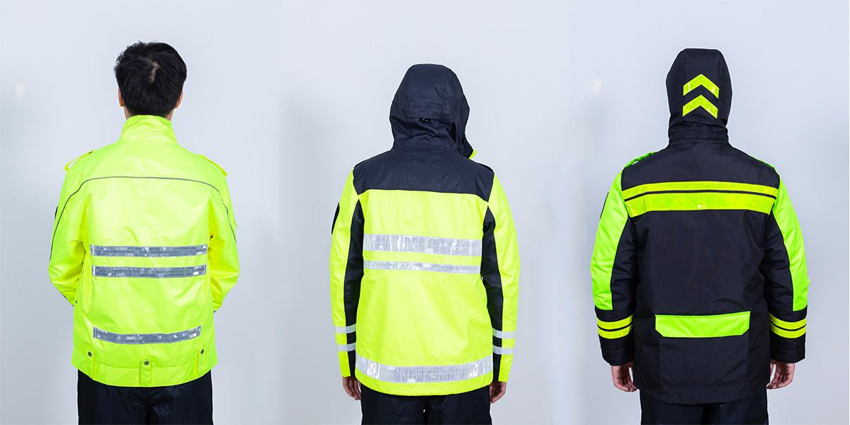 振弘保安公司反光雨衣定制案例